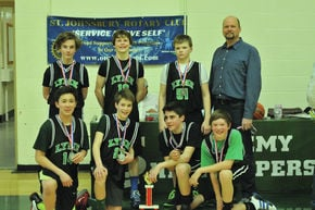 Basketball team runners up in annual Rotary Basketball Tournament