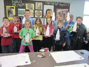Pittsburg students display their artwork