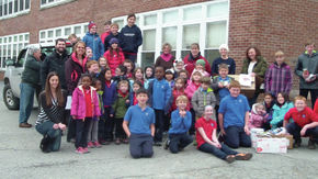St. Pauls students collect food for Thanksgiving for food shelf