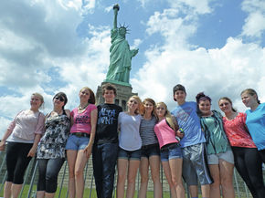 Miller's Run students visit New York City