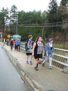 Caledonia School student hike for HOPE