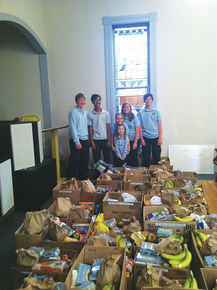 Students Collect Food Donations For Local Families