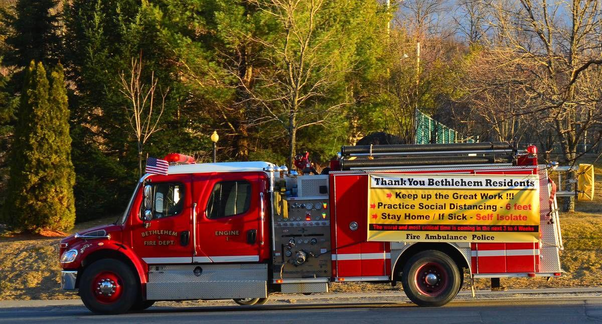 Bethlehem FD Gets Out Coronavirus Safety Message - Practice Social Distancing