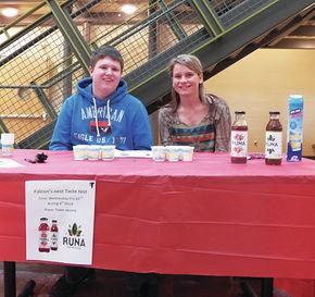 NCCC DECA students hold taste test of Runa Tea
