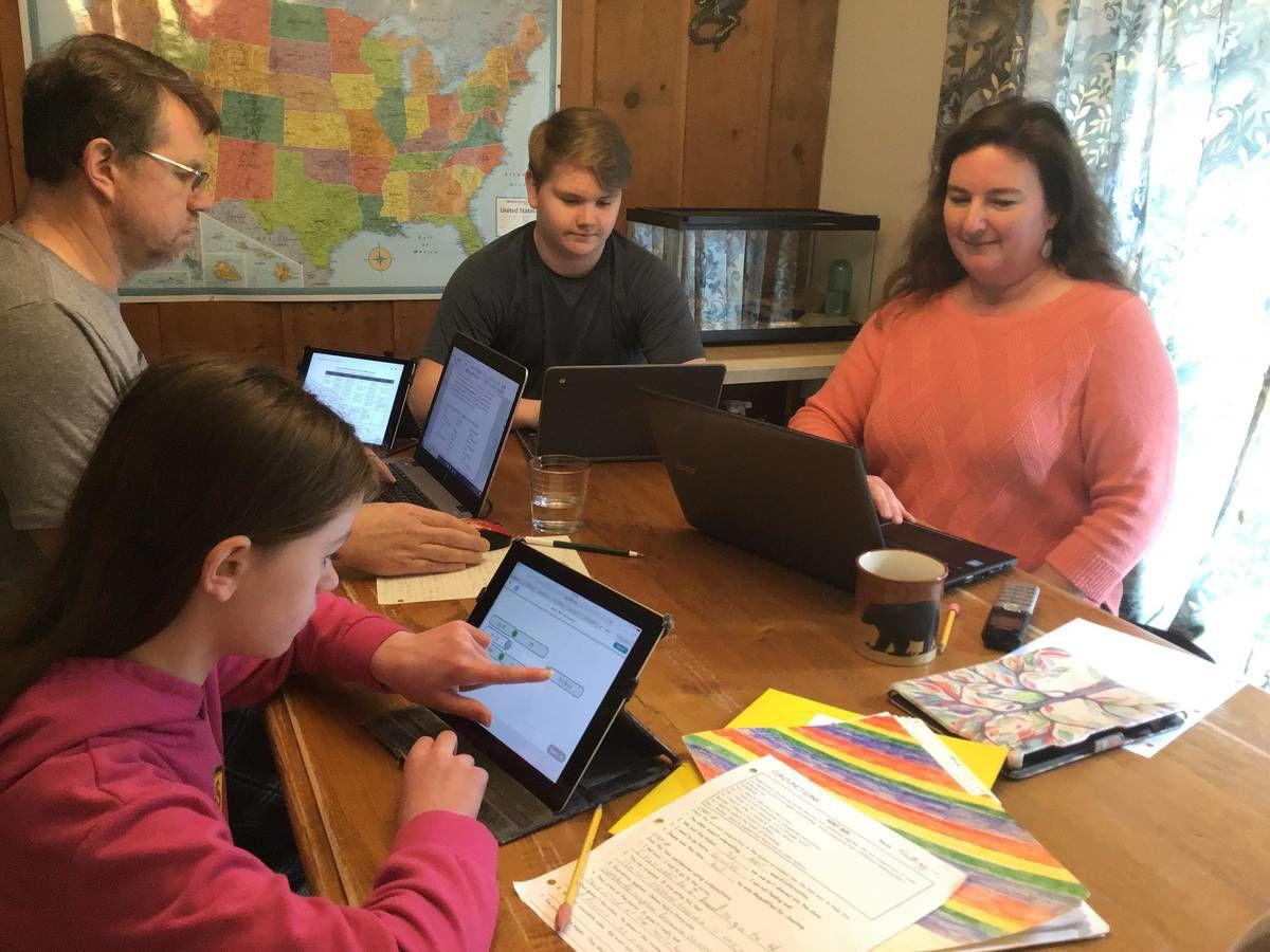 Home School: Family Of Teachers & Students Adapt To Distance Learning