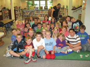 Lancaster students visit the library