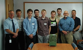 Students collaborate with NE Wire to model a flex testing machine