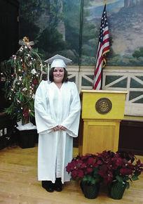 Tina Riendeau graduates fronm LI