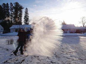 Caledonia School students create snow