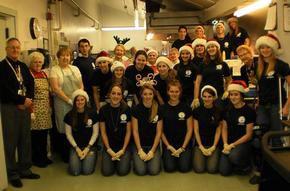 National Honor Society Members Celebrate Christmas at Littleton Senior Center