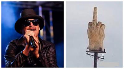Kid Rock Purchases Middle Finger Sculpture Made by Vermont Man For Nashville Home