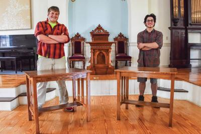 Lyndon Institute 2020 Grads Restore Historic York Meeting House Tables