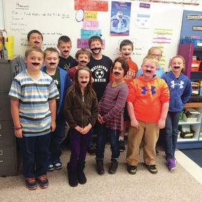 """Waterford students kick off Red Ribbon Week with """"I Mustache You Not To Do Drugs"""""""