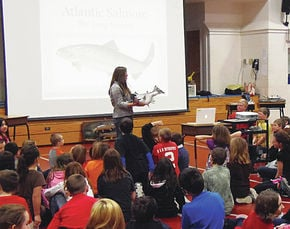 Four Seasons Club brings salmon story to Orleans students