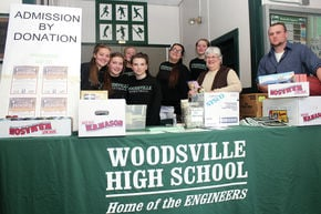 Woodsville girls JV basketball team makes donation to food pantry