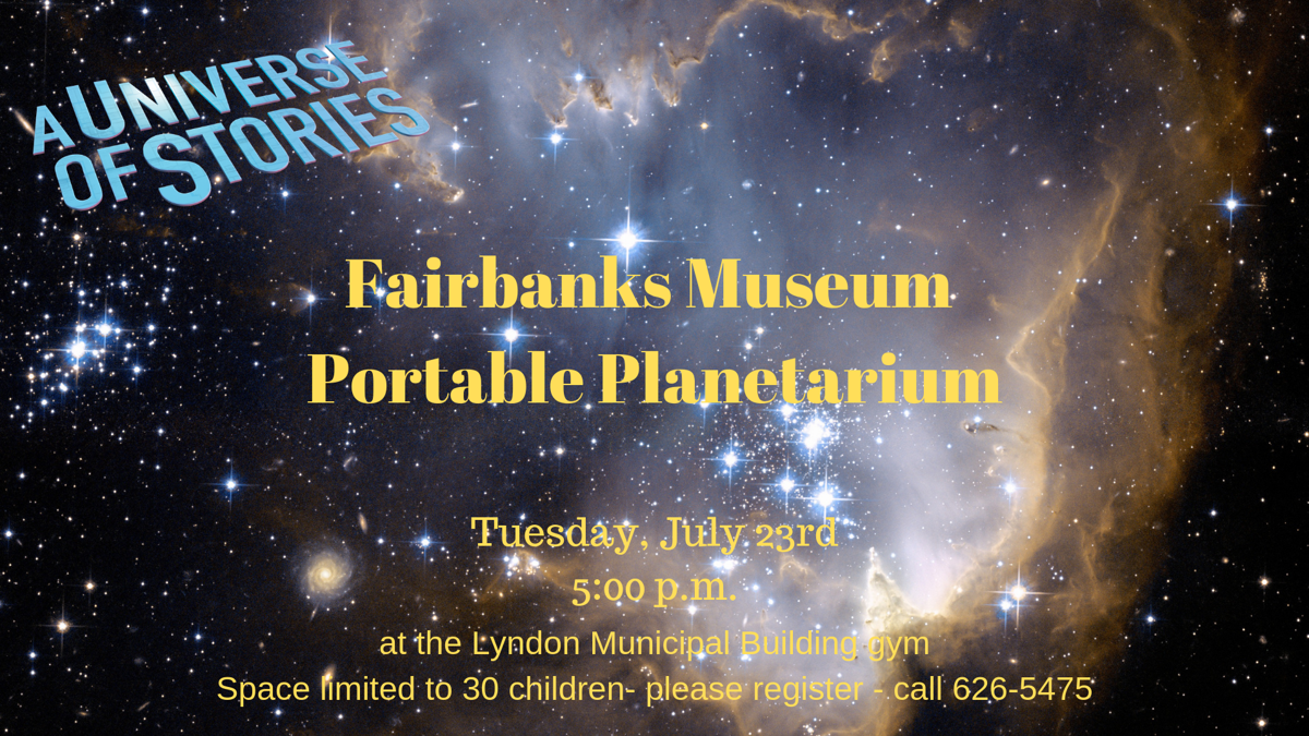 Portable Planetarium Show July 23rd