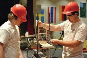 Lyndon Institute's Bridge Building Competition Results