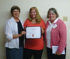 Elisabeth Surridge receives Delta Kappa Gamma Student Aid Award