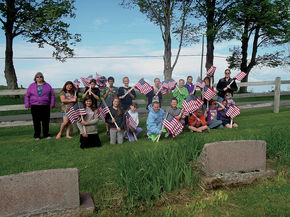 Sutton students honor graves of veterans on Memorial Day