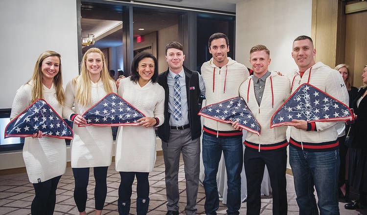 American Flag That Flew Over Groton Flown To Olympics With Skeleton Crew