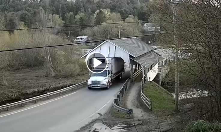 Truck Causes Major Damage To Covered Bridge In Lyndon | News