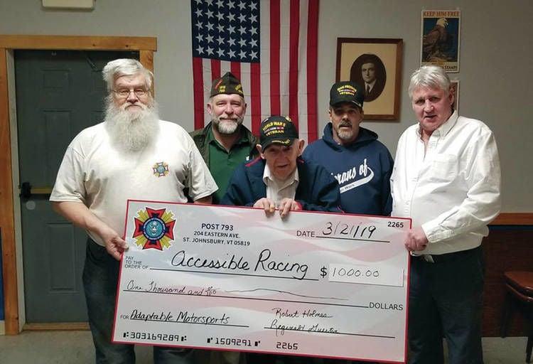St. Johnsbury WWII Veteran Pete Racine Supports Adaptive Motorsports & Wellness