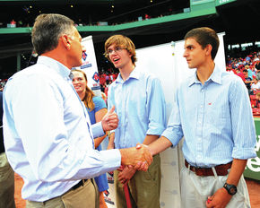 Vermont Red Sox Scholarship Recipients Honored At Fenway Park