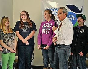 Riverside students learn hospital practices