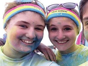 Upward Bound students participate in Color Run