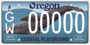 Put a whale on it — Oregon gets a new license plate
