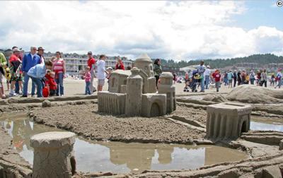 Sandcastle contest ahead