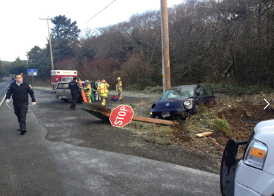 Cannon Beach police, fire respond to car accident