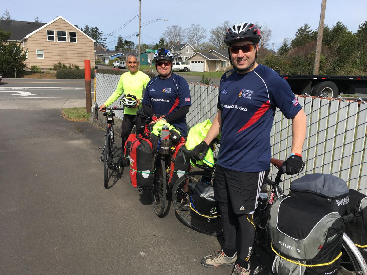 British cyclists pedal the coast for a cause