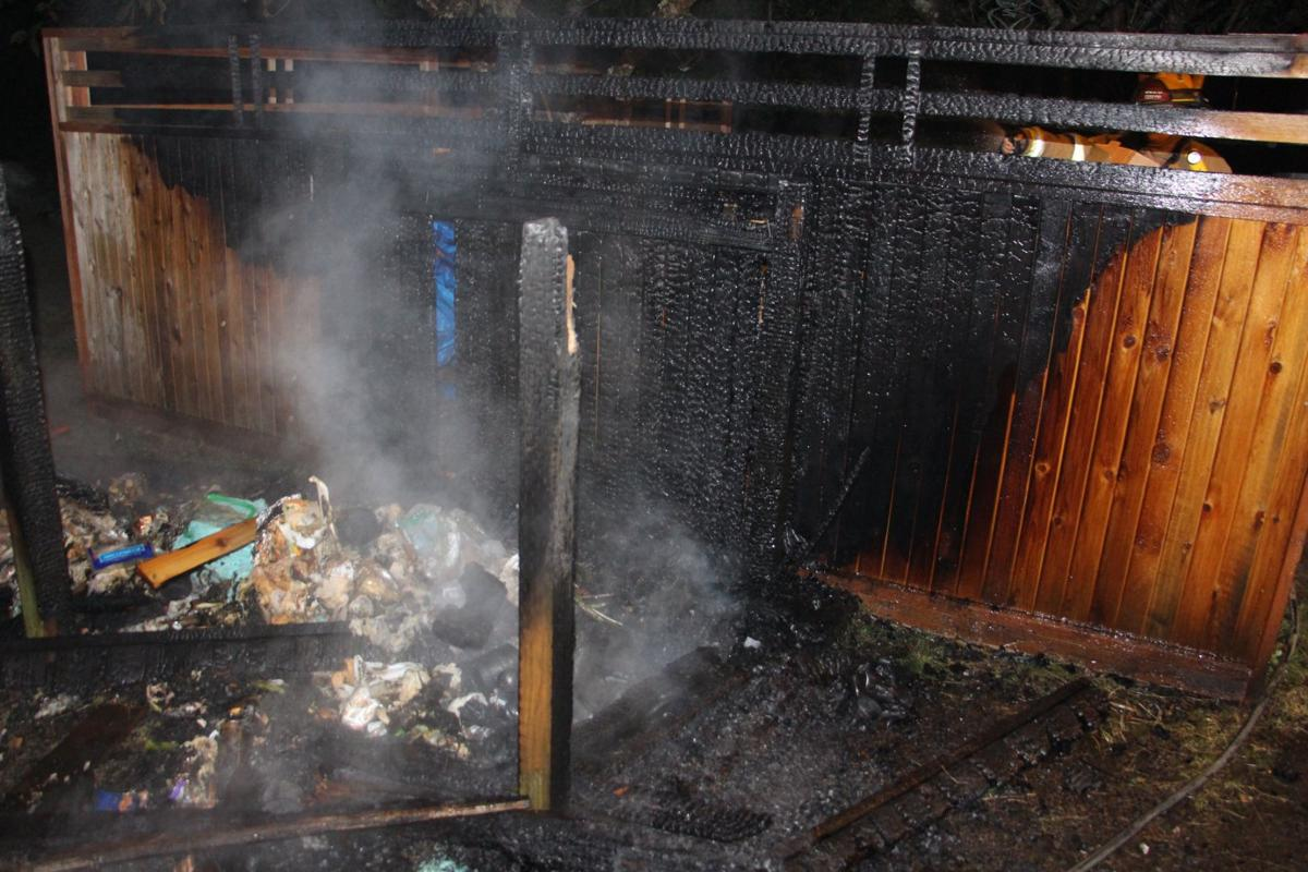 Trash cans catch fire in Cannon Beach