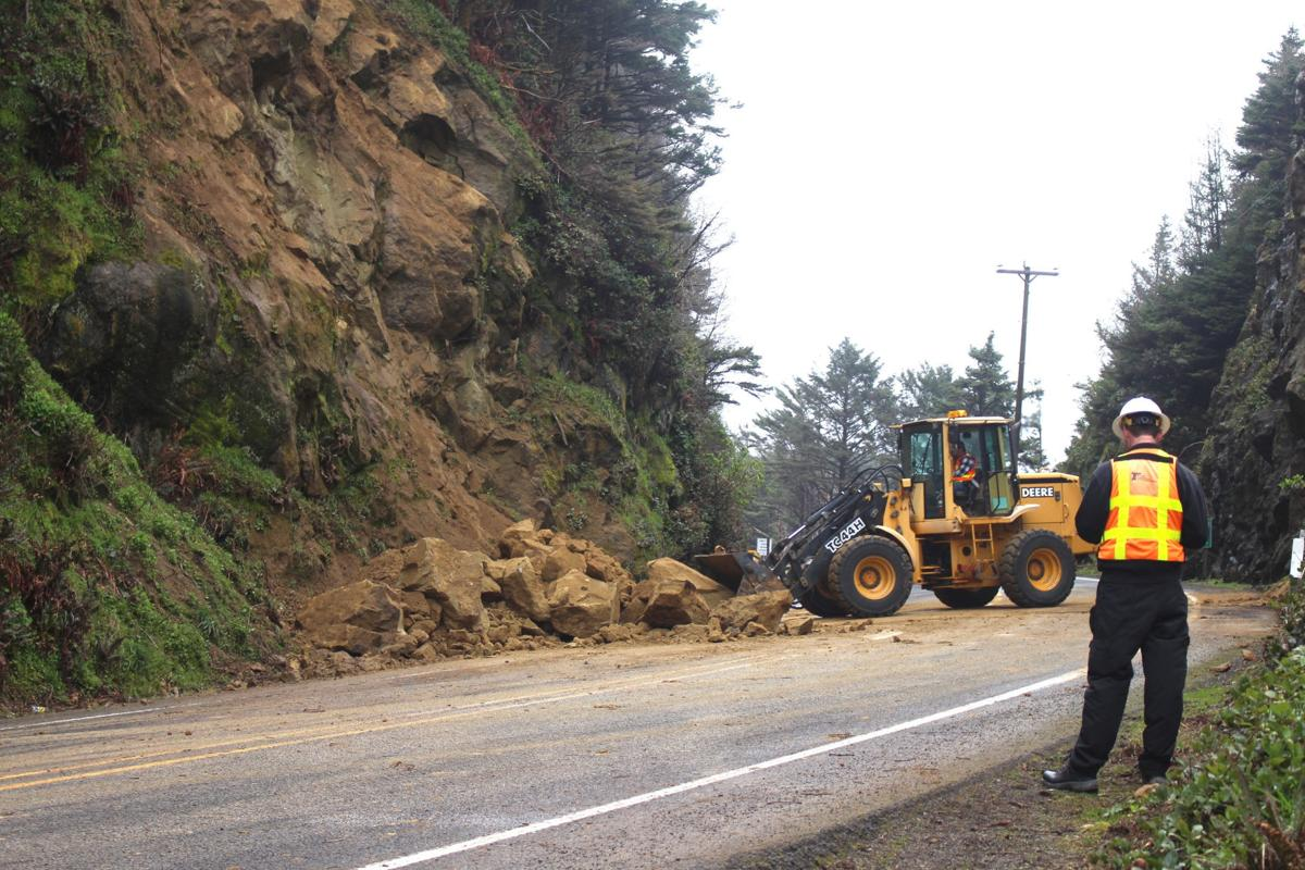 Highway 101 near Hug Point reopened after landslide