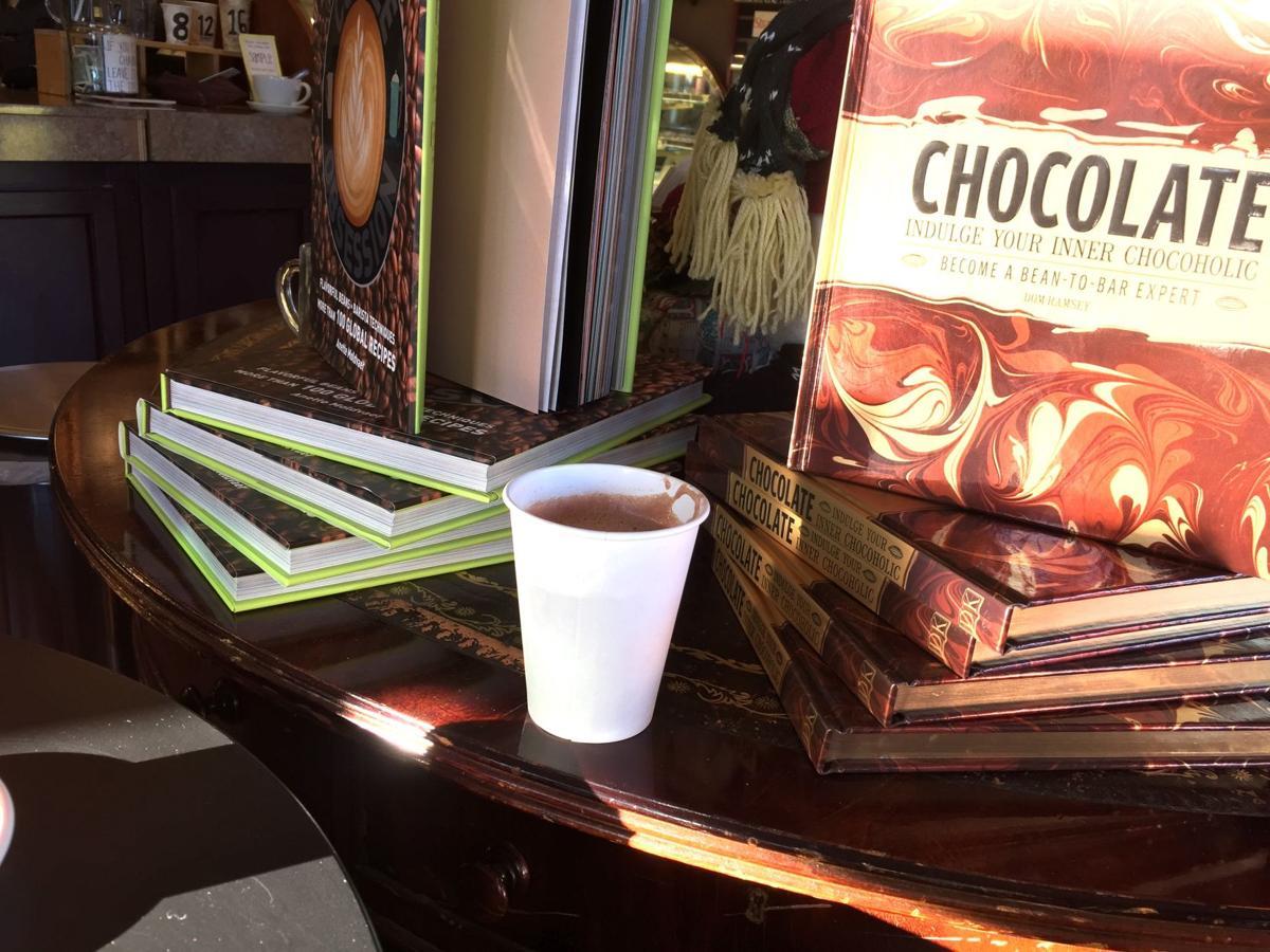 Hot chocolate in Cannon Beach