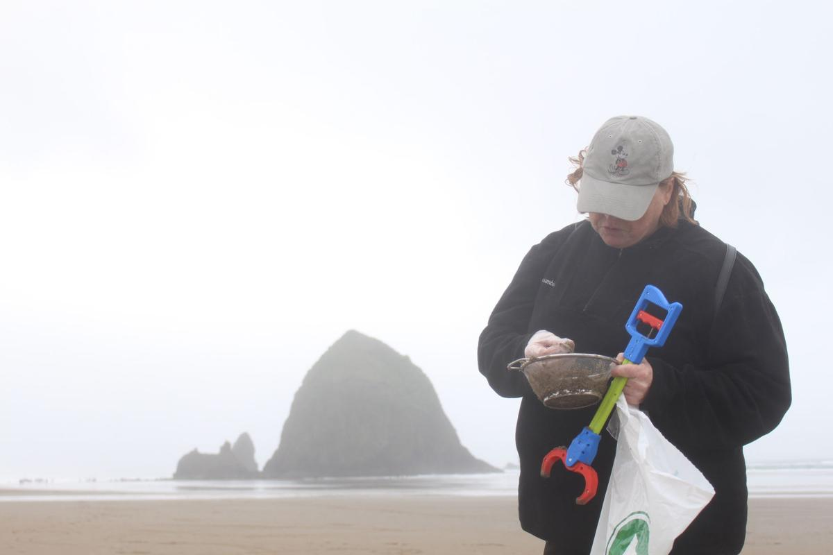 Cleaning up in Cannon Beach