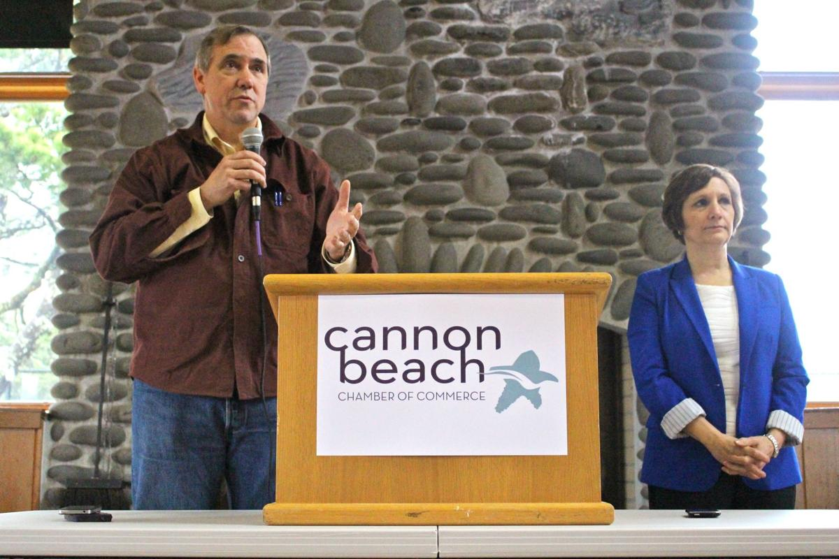 Merkley, Bonamici address Cannon Beach Academy, Oregon LNG in town hall