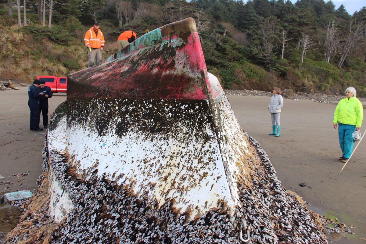 Japanese fishing boat found near Arcadia Beach