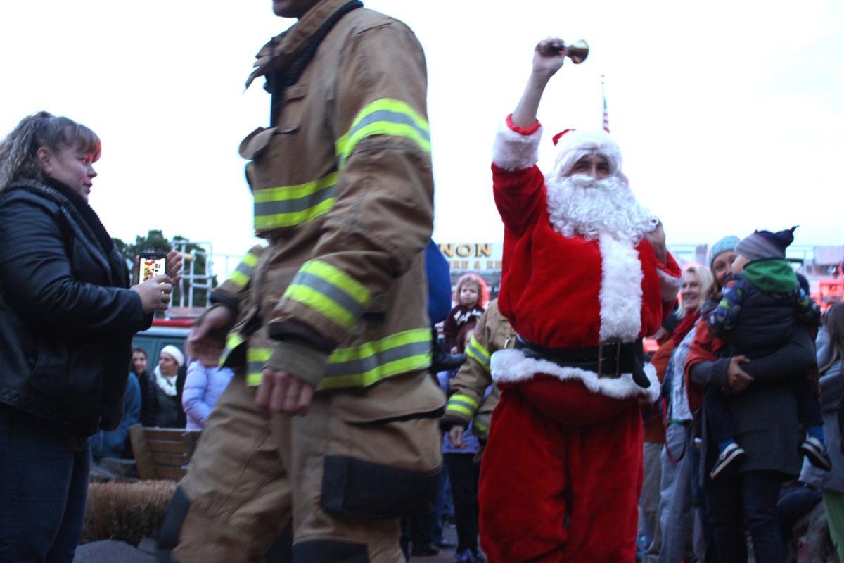 Santa greets the crowd