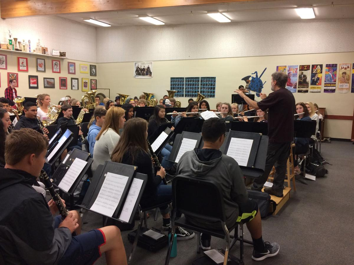 Striking up the band at Seaside High School