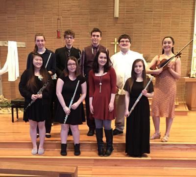 Scholarship winners in concert