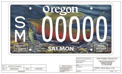 Salmon license plate