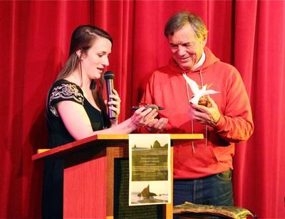 Students celebrate local author with Oregon Coast Literary Award