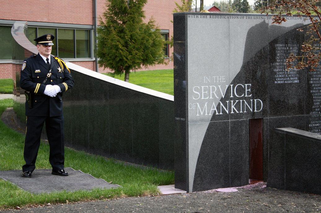 Goodding honored in state memorial
