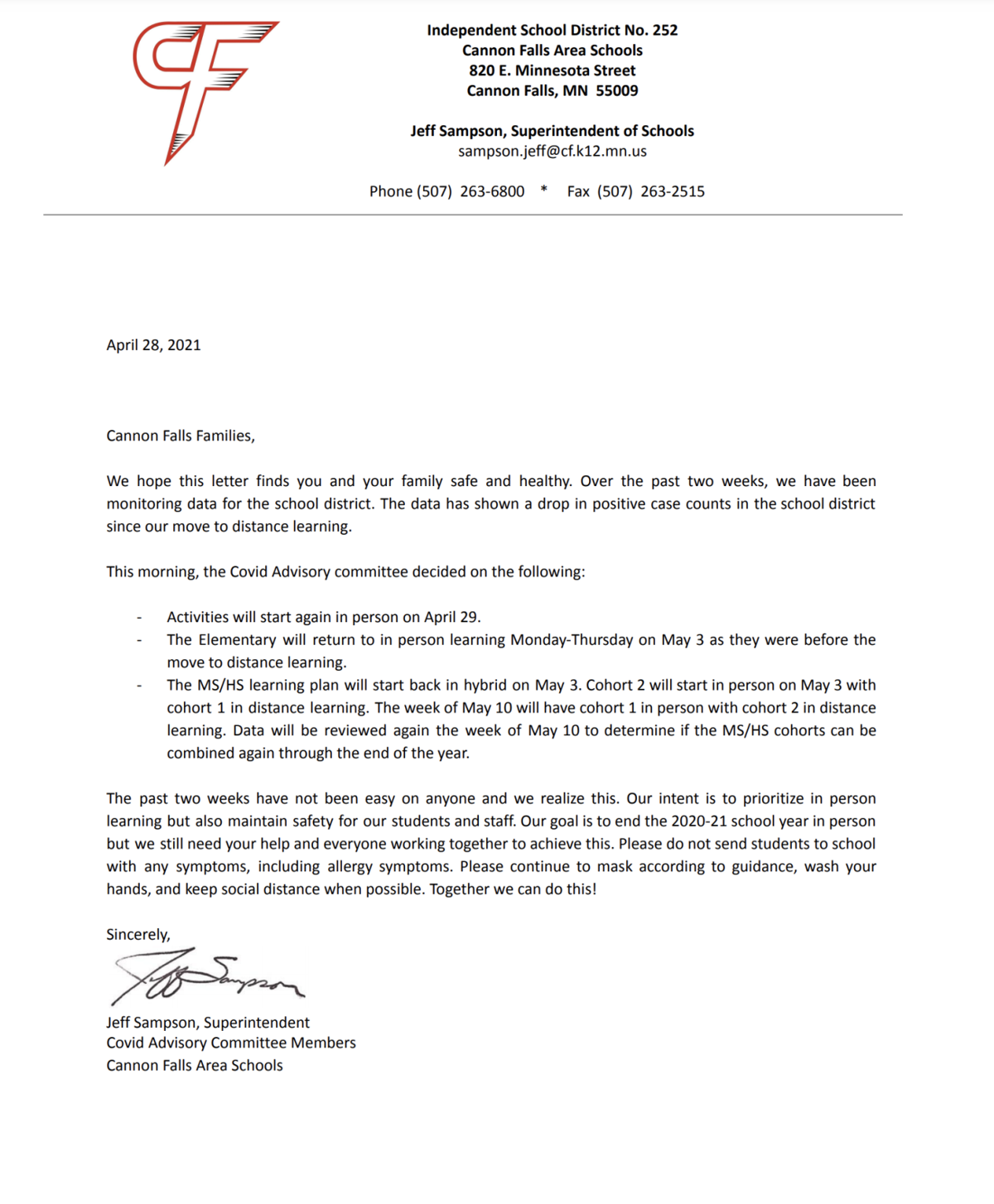 April 28 letter from district.png