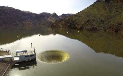 Owyhee Reservoir 'glory hole'