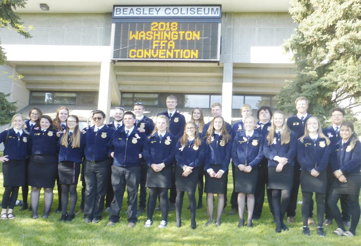 Quincy FFA 'Hall of Chapters' booth wins at state