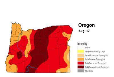 U.S. Drought Monitor — Oregon