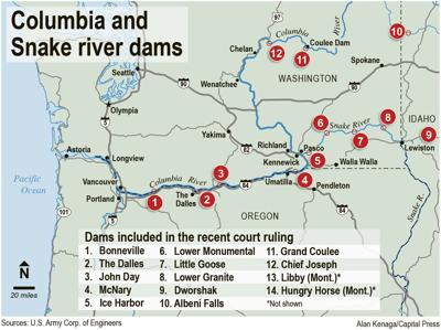 Ag Voices Must Be Heard On Columbia River System Group Says Idaho - Columbia-river-map-us